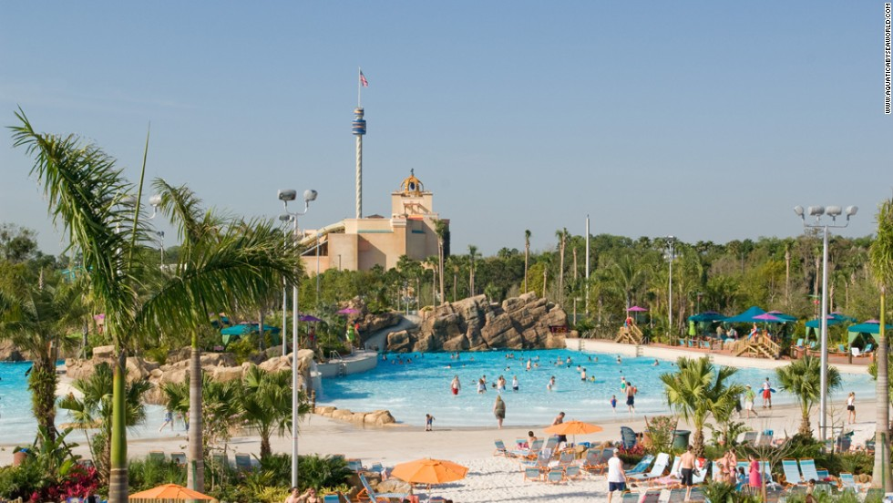 Aquatica's gardens have 250 species of shrubs, grasses and vines. The entire park contains 3.3 million gallons of water kept at a temperature of 82 degrees. Private cabanas are available to rent.