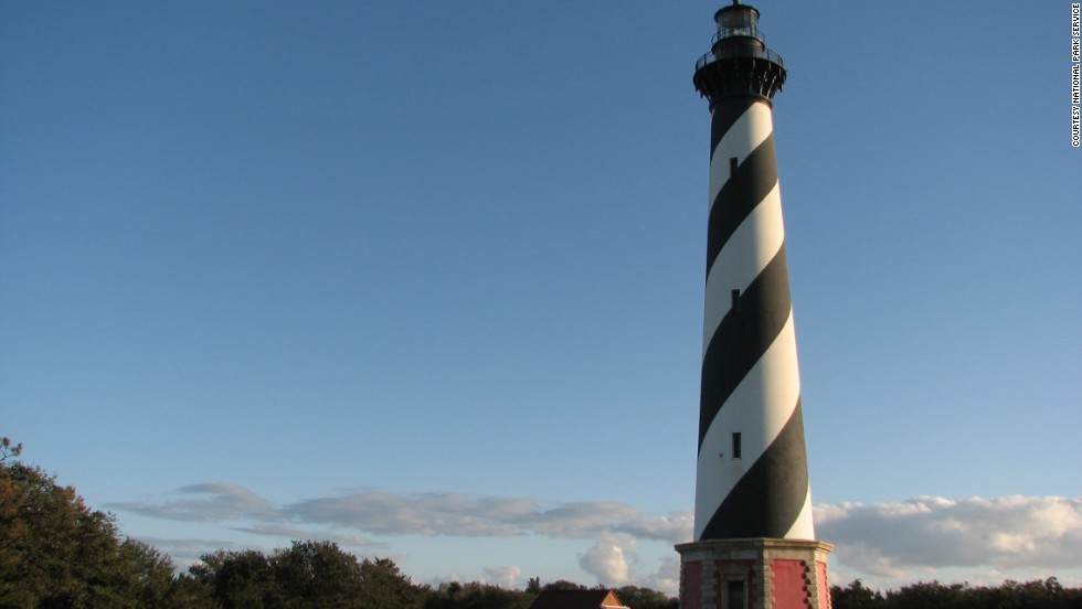 Cape Hatteras Lighthouse was moved in 1999 to save it from erosion caused by the gradual westward migration of the Outer Banks.