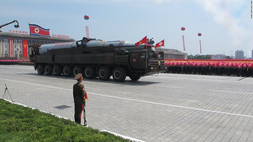 A soldier stood guard at Kim Il Sung Square on Sunday July 28.