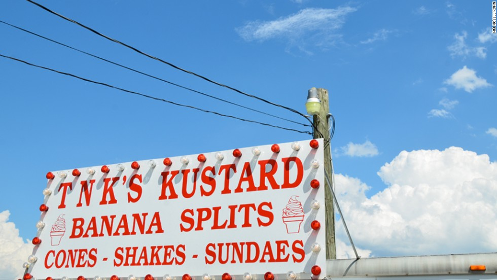 Spelling isn't important at TNK's Kustard in Woodstock, Virginia.