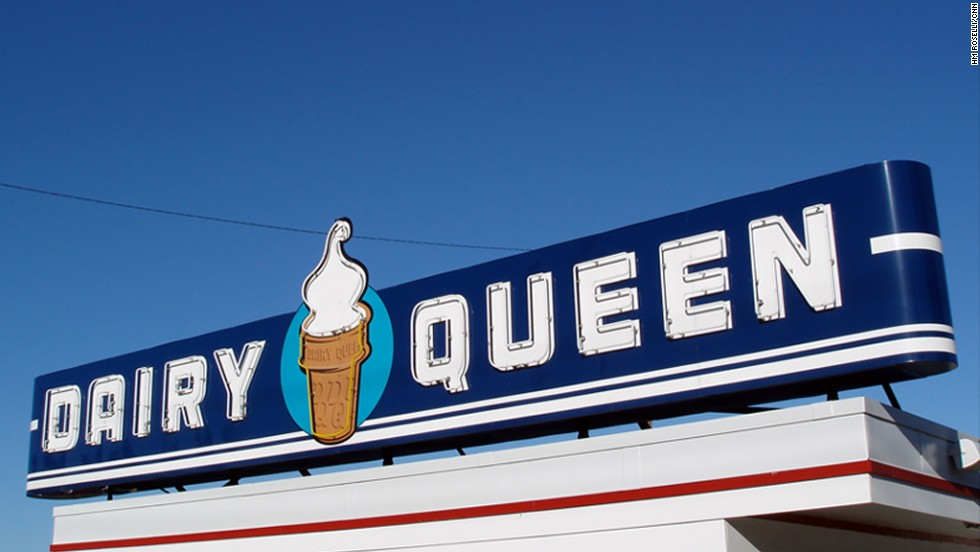 Dairy Queen's first store opened in 1940 in Joliet, Illinois -- this one 200 miles west in Iowa City, Iowa sports an earlier logo.