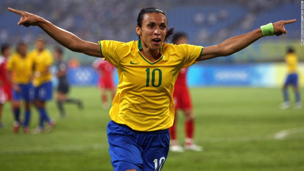 Marta is one of the most fearsome predators in women's football, scoring goals for fun wherever she has played. Her career has seen her record huge success in the U.S. and Sweden as well as on the international stage, where she is Brazil's most-capped player.