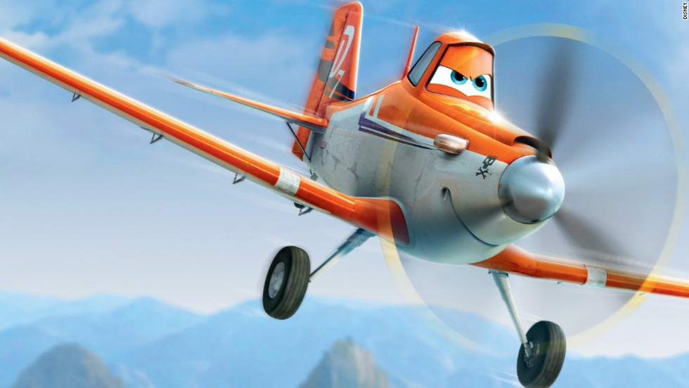 """Pilot Sean Bautista helped """"Planes"""" filmmakers invent a storyline that allows the character Dusty, shown here, increase his speed. Dane Cook provides Dusty's voice in the movie. A lot of the planes in the film, Bautista says, intentionally resemble actual aircraft. Click through the gallery for more characters and a few real-life counterparts."""