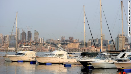 Luanda harbor - luxury and poverty coexist in the Angolan capital