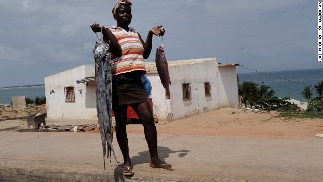 Angolan cuisine takes advantage of more than a thousand kilometers of coastline . Presumably these fish don't know how much they'll end up costing.