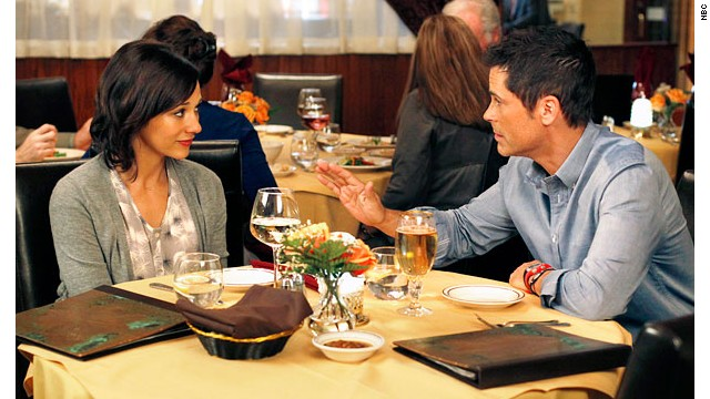 "Rashida Jones and Rob Lowe on ""Parks and Recreation"""