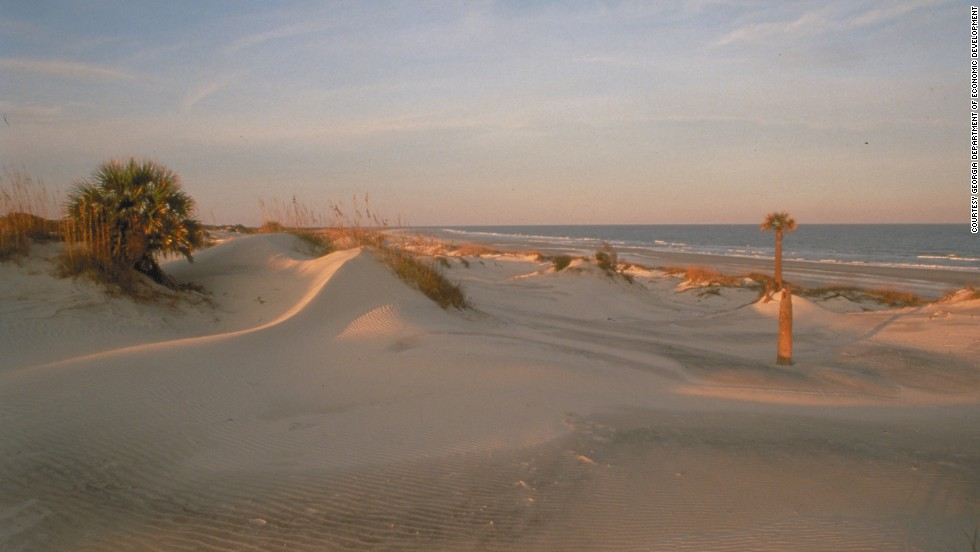 """<a href=""""http://www.nps.gov/cuis/index.htm"""" target=""""_blank"""">Cumberland Island</a> is Georgia's southernmost and largest barrier island, accessible via ferry at St. Mary's. Cumberland has been home to Native Americans, enslaved and freed African-Americans and wealthy industrialists. It's also where John F. Kennedy Jr. and Carolyn Bessette were married in September 1996."""