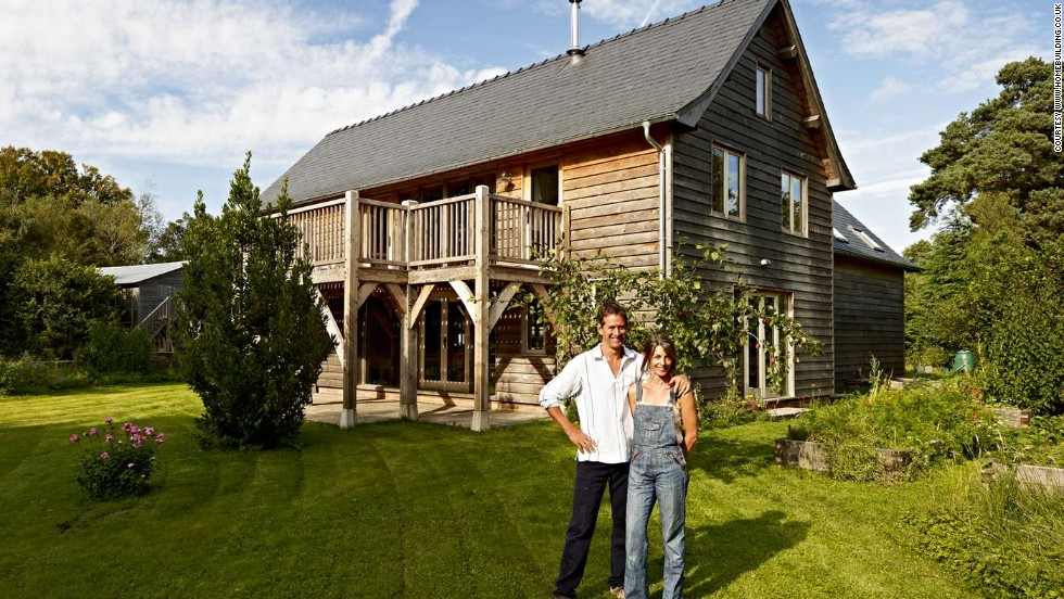 Some builders, such as Rob and Alithea Dawson, have thrown a little more money into their self-build projects. The Dawsons built their own energy-efficient oak home in the woods in Somerset, UK for around $150,000.