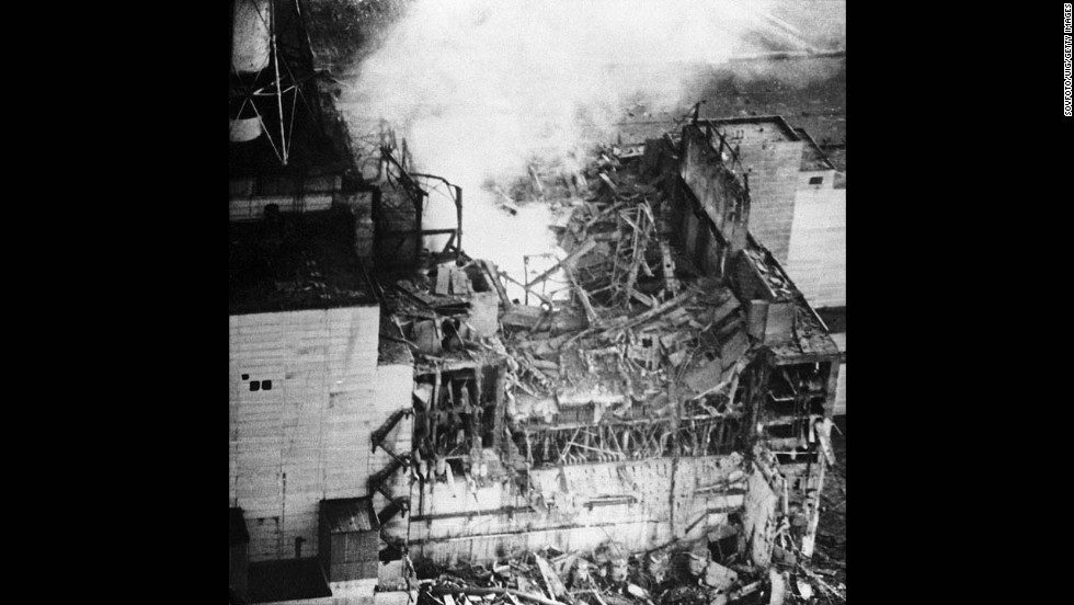Reactor number four exploded on April 26, 1986, releasing large amounts of radiation into the atmosphere. More than 100,000 people were evacuated from their homes.