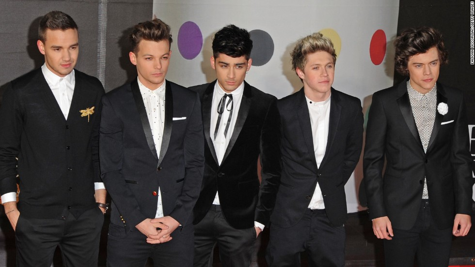 "As One Direction, Liam Payne, Louis Tomlinson, Zayn Malik, Niall Horan and Harry Styles are heartthrobs -- not unlike the Rolling Stones were once upon a time, <a href=""http://marquee.blogs.cnn.com/2012/11/14/one-direction-like-a-young-rolling-stones/"" target=""_blank"">Mick Jagger told CNN</a>. Malik announced in 2015 that he'd be leaving the group and the remaining members went on hiatus the following year to fans' dismay."