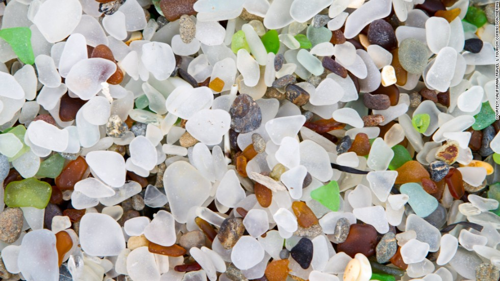 The smooth glass at Glass Beach is lovely to look at but collecting is prohibited. There's still plenty to explore and enjoy, including a nice collection of tide pools.