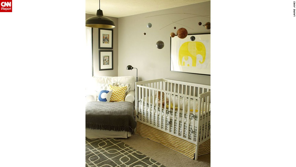 "<a href=""http://ireport.cnn.com/docs/DOC-1011169"">Laurie Jones</a>' <a href=""http://lauriejoneshome.com"" target=""_blank"">eclectic</a> nursery."