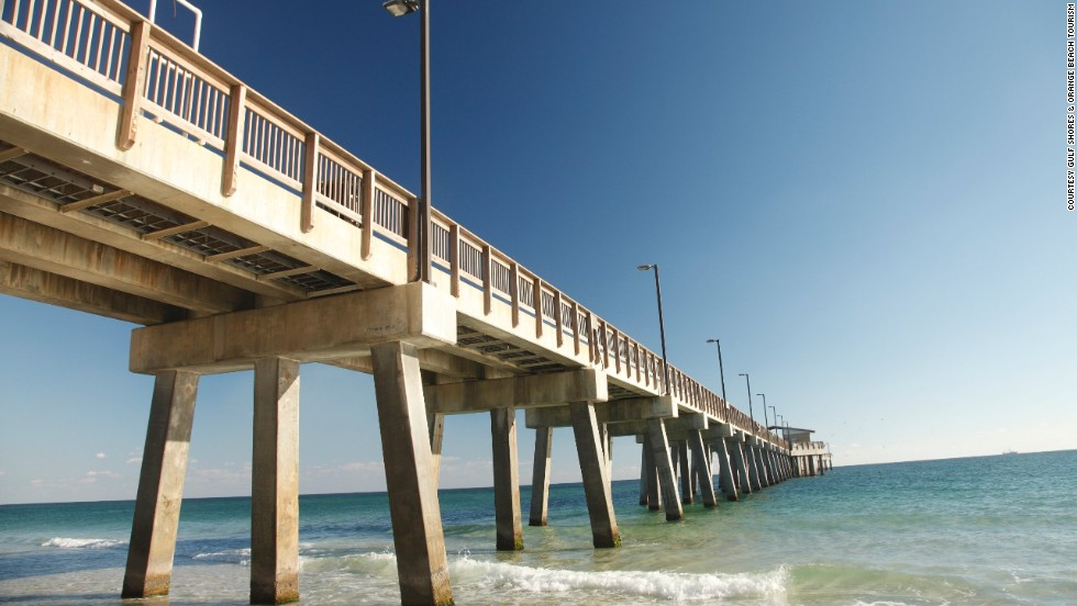 "With its predecessor destroyed by Hurricane Ivan in 2004, <a href=""http://www.alapark.com/GulfState/Gulf%20State%20Park%20Pier/"" target=""_blank"">Gulf State Park's pier</a> opened in 2009 claiming the title of largest pier on the Gulf of Mexico at 1,540 feet long and 41,800 square feet. The new pier features 2,448 feet of fishing space."