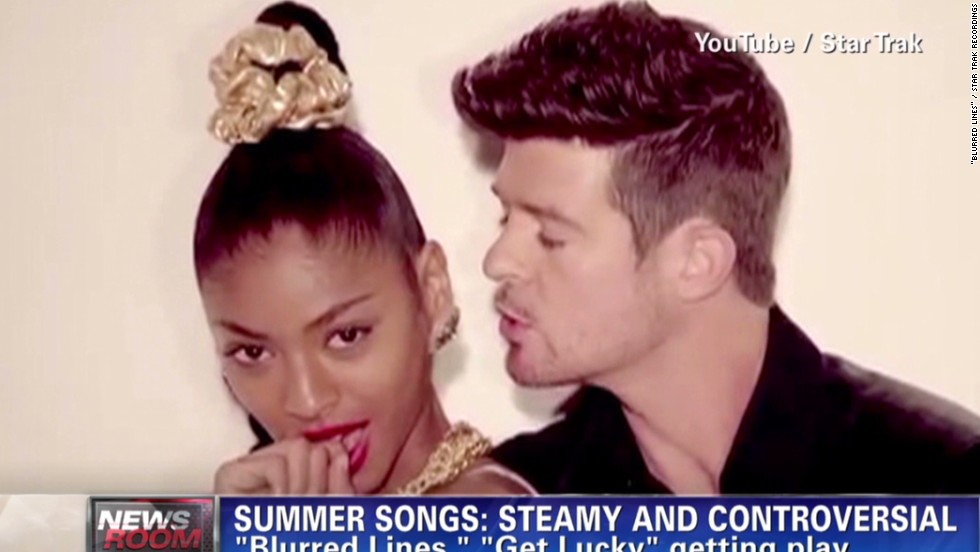 "Love it or hate it, you couldn't escape ""Blurred Lines"" this summer. Robin Thicke's Marvin Gaye-inspired jam became a No. 1 hit, even while mired in controversy (first about the nearly nude models in the music video, and then about the single's suggestive lyrics, and then ... <a href=""http://www.cnn.com/2013/08/26/showbiz/music/miley-cyrus-mtv-vmas-gaga"">well, you know</a>)."