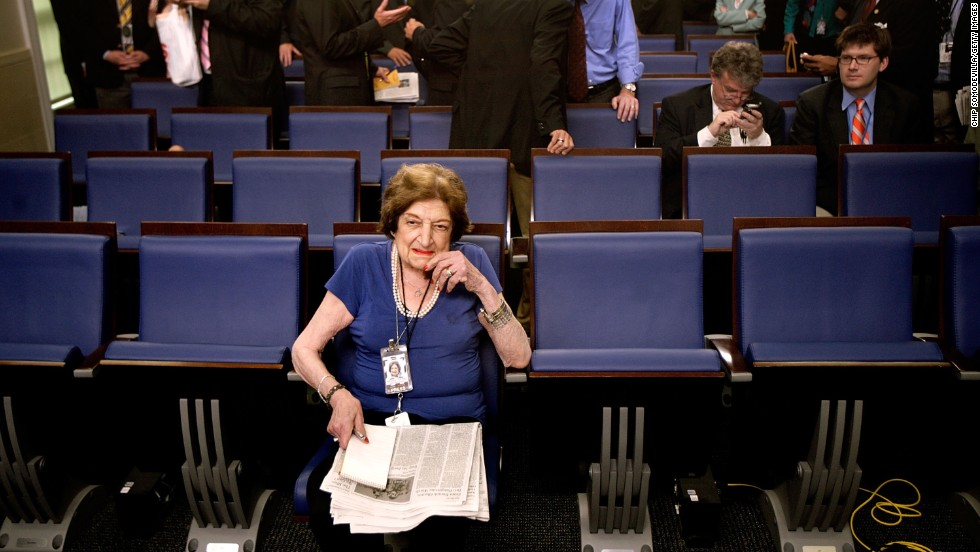 The late Helen Thomas, pioneer journalist and former senior White House correspondent, died July 20, shortly before her 93rd birthday.
