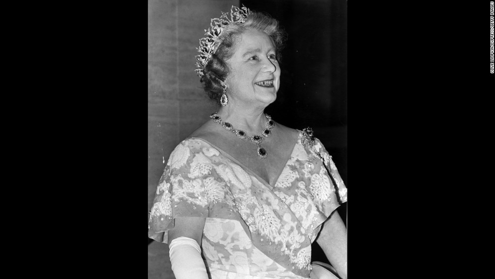 Elizabeth, Queen Mother Of England, King George VI's wife and mother to Queen Elizabeth II.