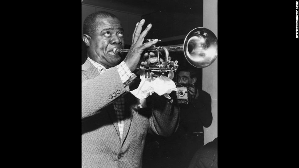 Jazz artist Louis Armstrong, among the most influential of 20th-century American musicians, was born August 4, 1901, in New Orleans.