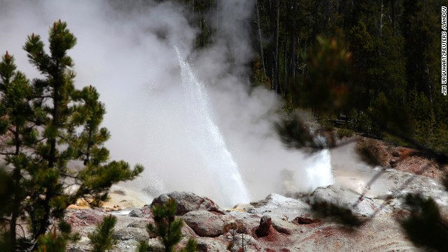 Rare show at Yellowstone