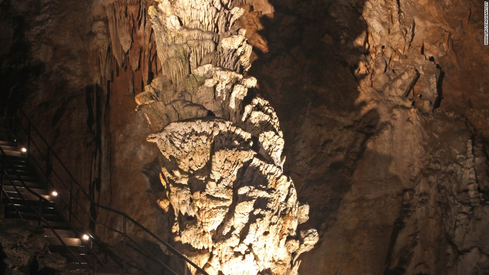 Italy is one of the most cave-pocked countries on the planet, with more than 35,000 cavities above ground and thousands more underwater. Grotta Gigante holds the Guinness World Record for largest accessible cave on Earth at a yawning 850 meters (2,788 feet) wide, with 500 steps that descend 100 meters (328 feet) into the earth.