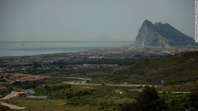 (file) This picture taken from Linea de la Concepcion, near Cadiz, on May 25, 2012 shows the famous Rock of the British colony of Gibraltar.