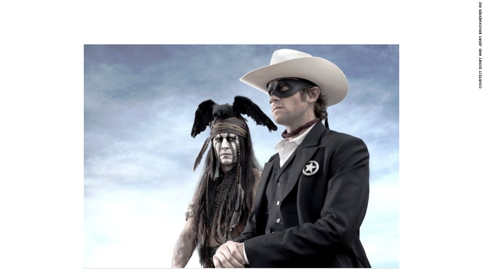 The Lone Ranger is one of the most iconic figures in Wild West folklore, and his story has been rebooted by Disney this year in a film starring Johnny Depp as American Indian tracker Tonto (left) and Armie Hammer as the title hero (right).