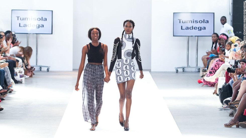 The event also featured creations by Tumisola Ladega, a teenage British designer of Nigerian descent.