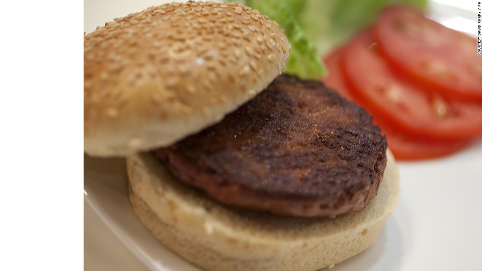 "The world's first test-tube burger, <a href=""http://cnn.com/2012/08/13/tech/innovation/lab-grown-meat"">grown in a laboratory from a cow's stem cells</a>, was served and eaten in London today. Scientists believe artificial meat could be sold in supermarkets within five to 10 years"