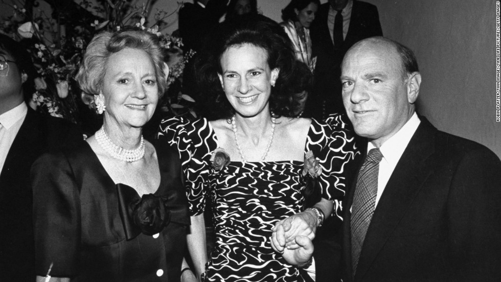Katharine Graham, left, who led the Post for more than two decades, poses with her daughter, journalist and socialite Lally Weymouth, and Barry Diller, chairman of 20th Century Fox, at a party in 1988.