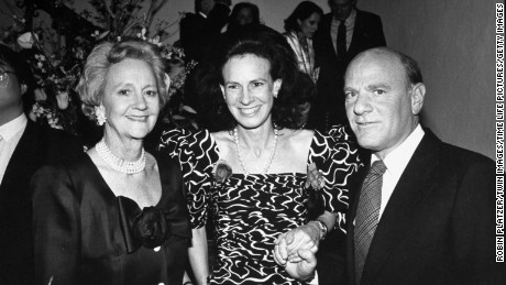 Katharine Graham, who led the Post for more than two decades, left, poses with her daughter, journalist and socialite Lally Weymouth, and Barry Diller, chairman of 20th Century Fox, at a party in 1988.