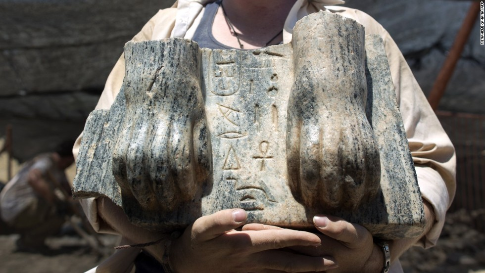 The paws of a sphinx statue, inscribed with the name of a pharaoh who ruled in 2500 BC, is the only relic of its kind. Amnon Ben-Tor, the excavation's director, said when ancient cities fell, the heads and hands of statues were often cut off.