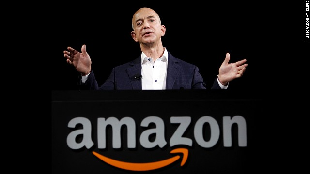 In this Sept. 6, 2012 file photo, Amazon founder and CEO Jeff Bezos speaks in Santa Monica, Calif. Bezos plans to buy The Washington Post for $250 million. (AP Photo/Reed Saxon, File