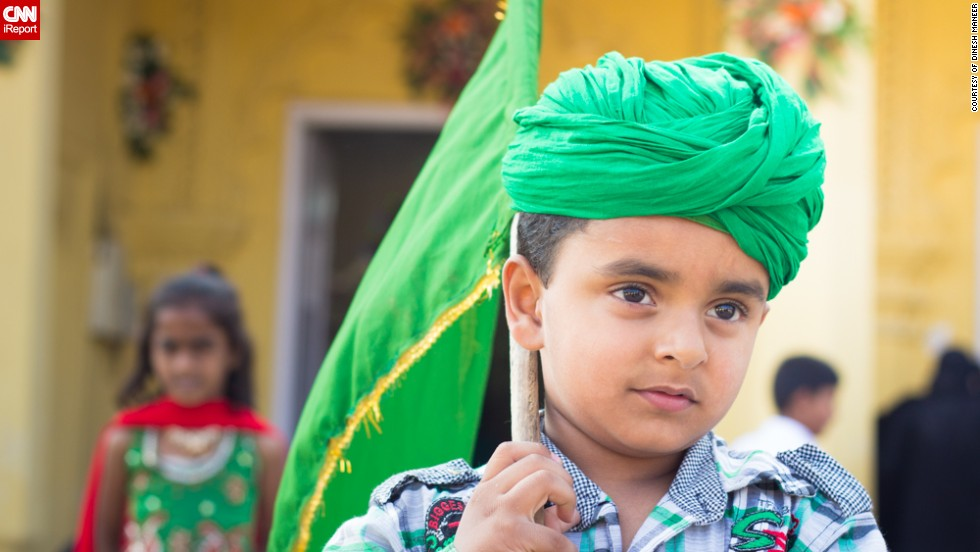 """This photo of a young Muslim boy was taken by Dinesh Maneer, from <a href=""""http://ireport.cnn.com/docs/DOC-1016485"""" target=""""_blank"""">Bangalore, India</a>. """"Though I am from a different religion I was invited by a friend to the mosque for photographing the celebrations,"""" said the 33-year-old engineer."""