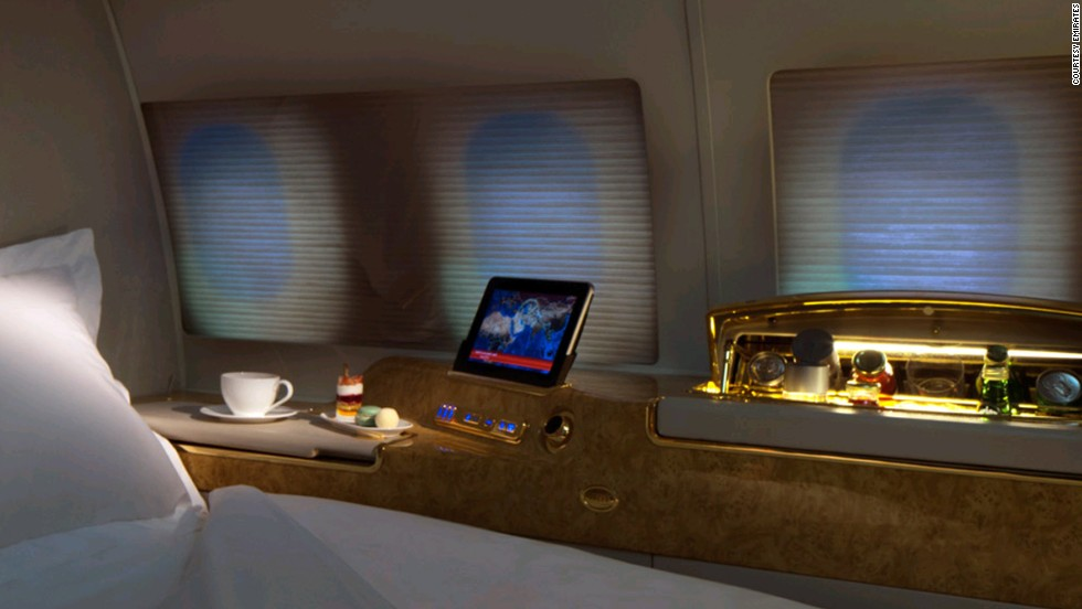Take the pain out of jet lag with a nap in one of the suites, complete with a fully lie flat seat and 32-inch TV.