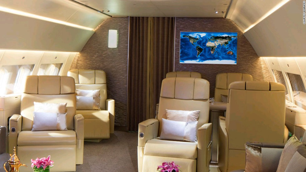 Emirates offer 1,500 entertainment channels on the two 42-inch LCD screens, as well as live TV and mobile connectivity.