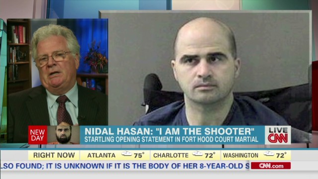 "Nidal Hasan: ""I am the shooter"""