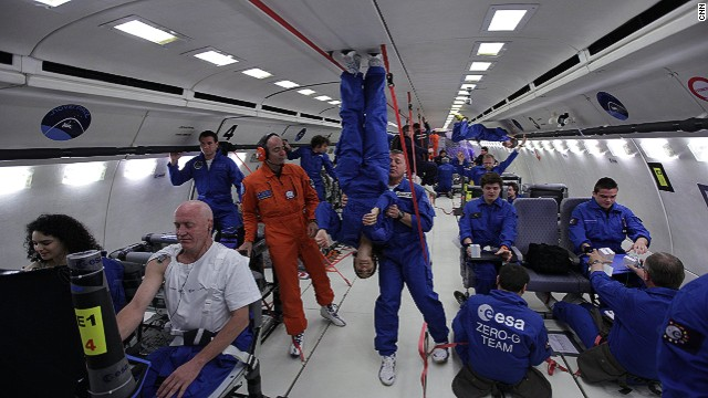 "Amazing feats of science: Trying to work On board the ""vomit comet"""