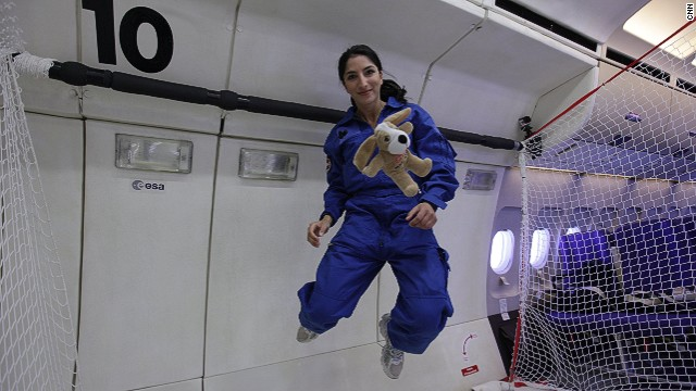 Zero gravity flight offers taste of space