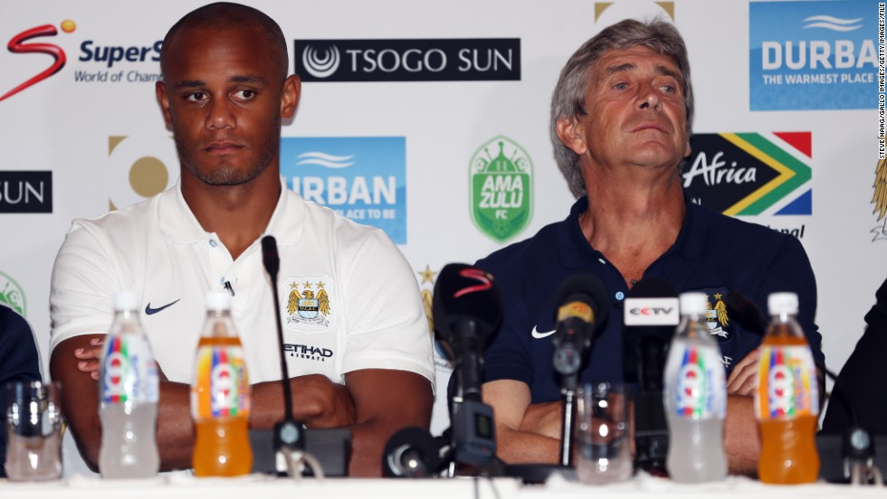 Manuel Pellegrini was appointed as City manager in May following the sacking of Roberto Mancini. The Chilean is the third different manager Kompany has worked under during five years in Manchester.