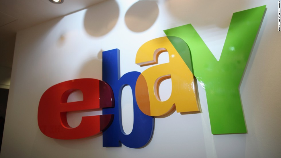 Here's eBay logo with its bright, overlapping letters that was used from 1995 to 2012.