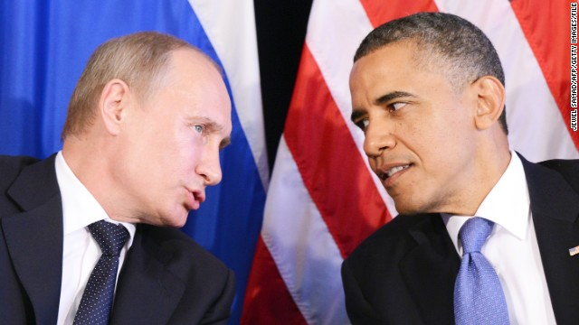 Russian President Vladimir Putin and President Barack Obama on the sidelines of the G20 summit in 2012 in Los Cabos, Mexico.