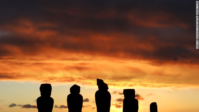 About 3,700 kilometers off the Chilean coast, Rapa Nui is the easternmost Polynesian island.