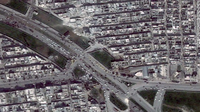 Alarming satellite images from Aleppo