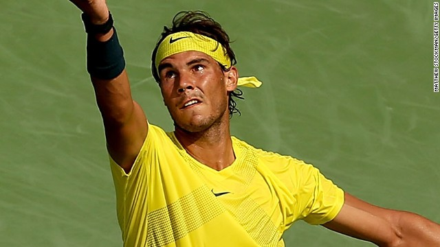 Former world No. 1 Rafael Nadal was playing for the first time since losing in the first round at Wimbledon.