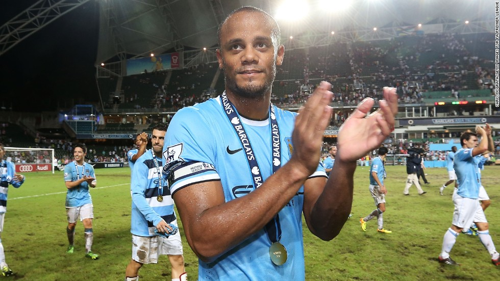 Manchester City captain Vincent Kompany also skippers the Belgium national team. He began his professional career with Brussels club Anderlecht.
