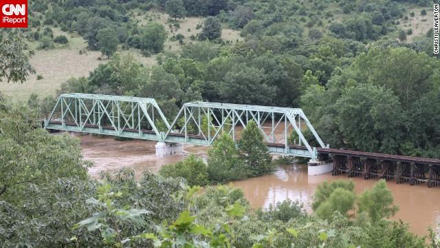 Railroad bridge on the Big Piney River, Devils Elbow, MO 8-7-13