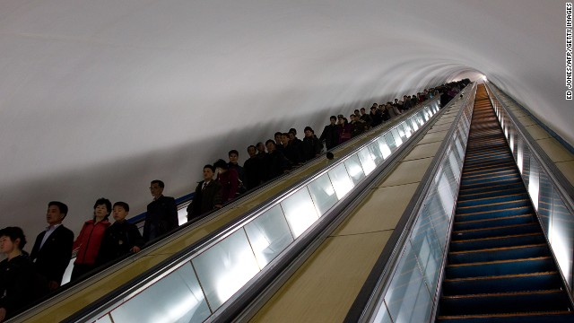 Pyongyang's metro network is reportedly the world's deepest.
