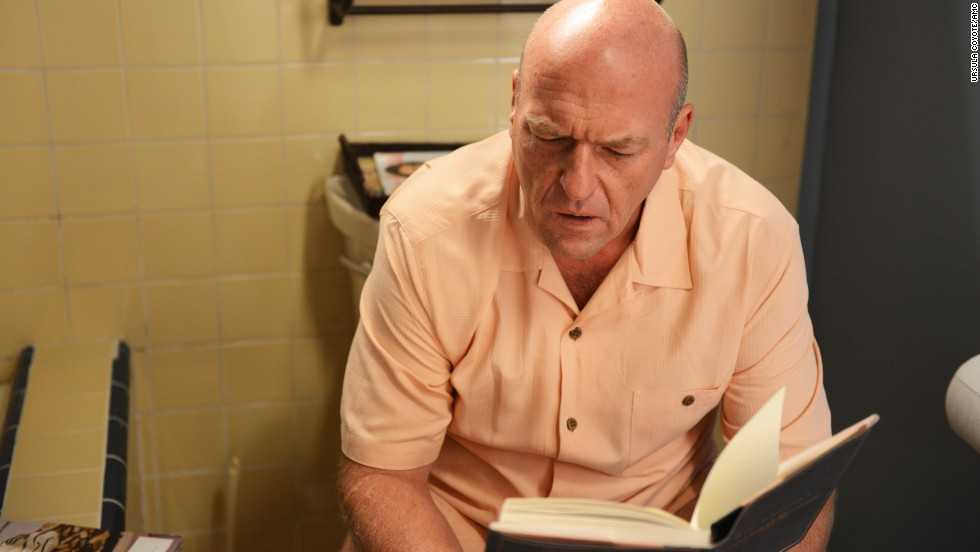 "In the last episode before ""Breaking Bad's"" final run, Hank discovers some incriminating bathroom reading in Walt's house. What will he do with this startling information? The answer may drive the narrative for the show's final eight episodes."