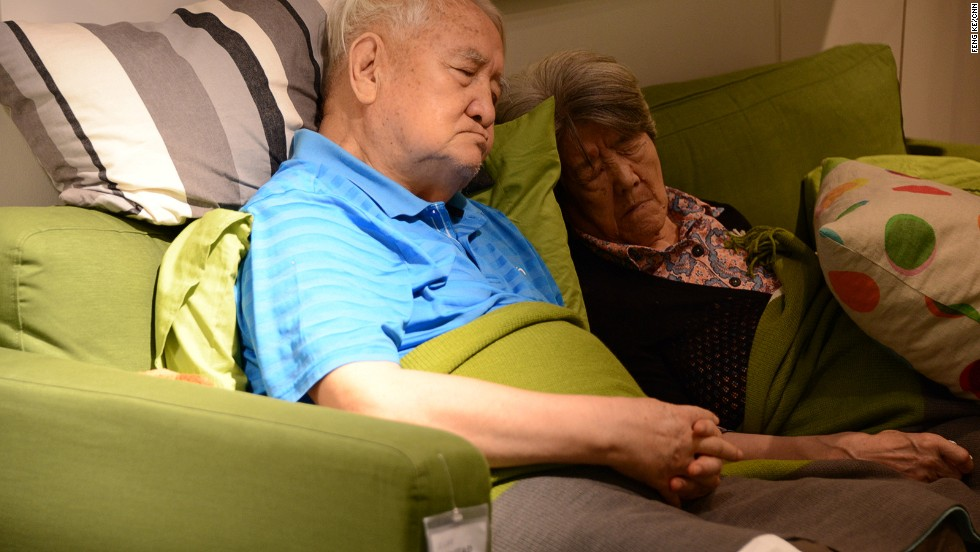 As record temperatures hit China, an Ikea store in Beijing has seen a surge in interest from citizens looking for air-conditioning, comfortable sofas and a good nap. Shanghai experienced its hottest July in 140 years with temperatures as high as 40.8 C. At least 10 Shanghai residents have reportedly died from heat stroke this summer.