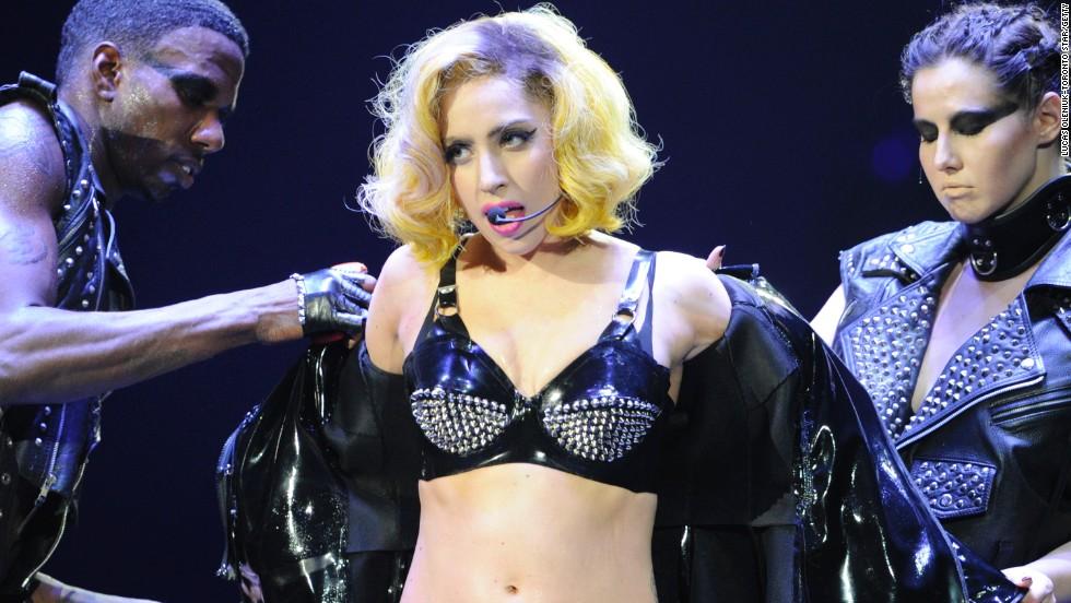 Lady Gaga performing in Toronto in 2010.