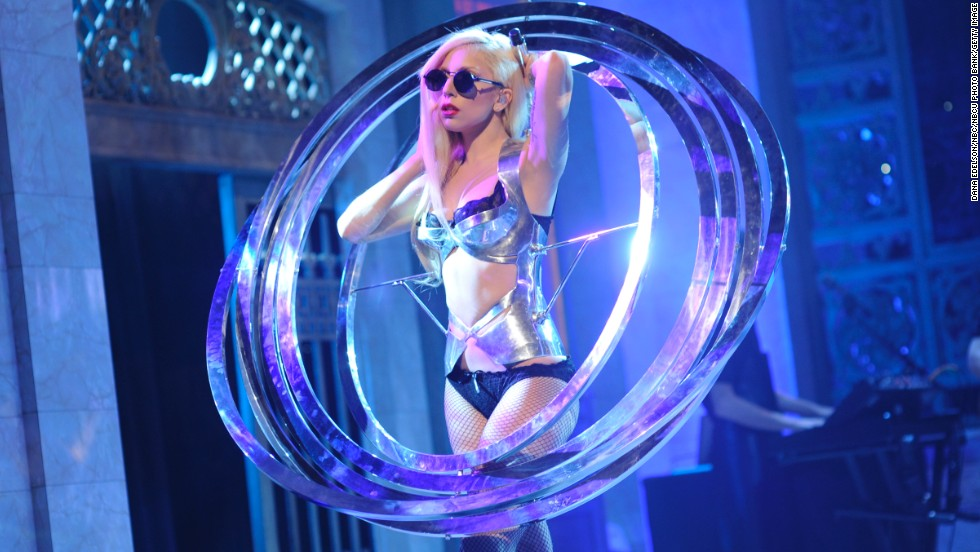 "Lady Gaga performs on ""Saturday Night Live"" in 2009."